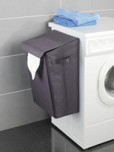Grafik: Wäschesammler an einer Waschmaschine
